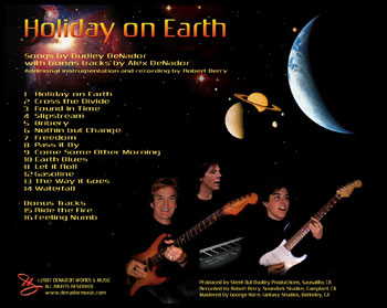 Holiday on Earth Back Cover of CD